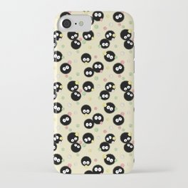 Soot Sprites with Konpeito Sugar Candy iPhone Case