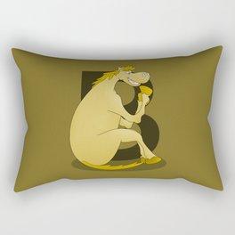 Pony Monogram Letter B Rectangular Pillow