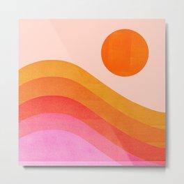 Abstraction_SUNSET_OCEAN_COLOR_POP_ART_Minimalism_009D Metal Print