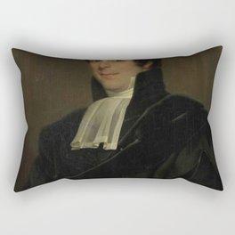 Jan Adam Kruseman - Portrait of Gijsbertus Johannes Rooyens, Professor of Theology and Church Histor Rectangular Pillow