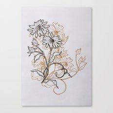 Ochre Daisy Canvas Print