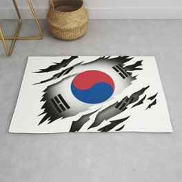 South Korea in the Heart Rug