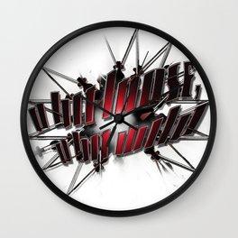 A Bit Loose, A Bit Wild Wall Clock