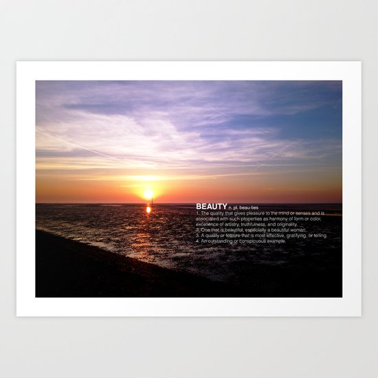 THE BEAUTY OF THE SUNSET Art Print