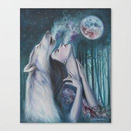 Moon Howl Canvas Print