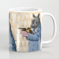 gangster Mugs featuring Gangster Rhino by Ichorteeth