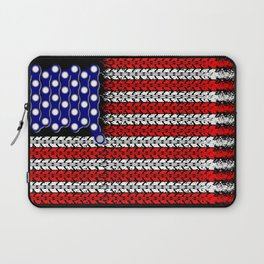 Bike USA Flag Laptop Sleeve