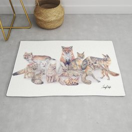 Foxes of the World Rug