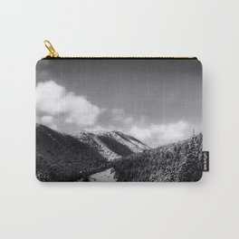 Big Sky Country - Black And White Carry-All Pouch
