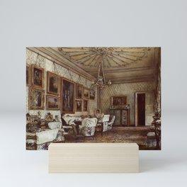 Salon In The Apartment Of Count Lanckoroński In Vienna 1881 by Rudolf von Alt   Reproduction Mini Art Print