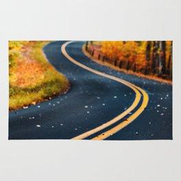 road in autumn Rug
