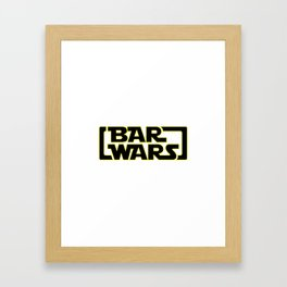 Bar Wars Framed Art Print