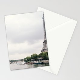France Photography - The Eiffel Tower By The Seine River Stationery Cards