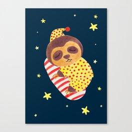Sleeping Like a Sloth Canvas Print