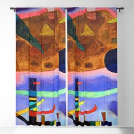 Wassily Kandinsky Three Elements Blackout Curtain