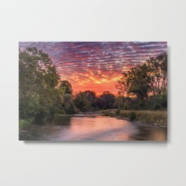 Sunrise over the Huron River, Ann Arbor, Michigan Metal Print