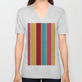 Striped Textile background Unisex V-Neck