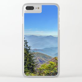 Blue Ridge Mountains Clear iPhone Case