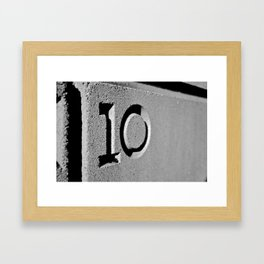10 Framed Art Print