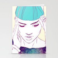 grimes Stationery Cards featuring GRIMES by Nuk_