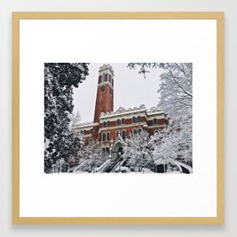 vandy in the snow Framed Art Print