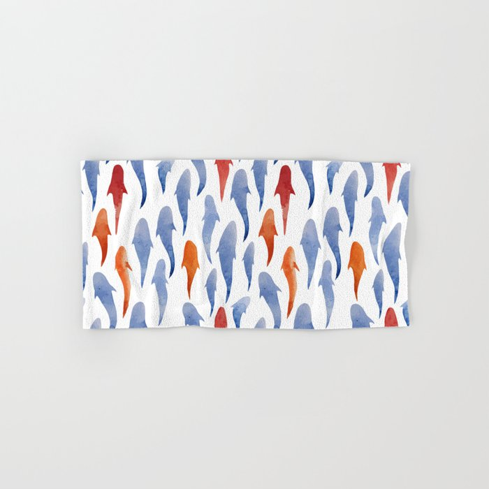 Watercolor Shark Pattern Hand & Bath Towel