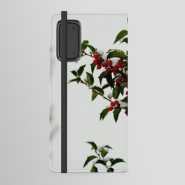 Snow-Kissed Holly Android Wallet Case