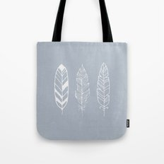 Three feathers - blue Tote Bag