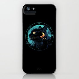 Puss the Devil Cat iPhone Case