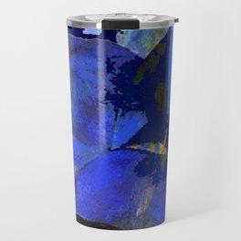 manet umbrellas blue Travel Mug