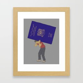 The Struggle of Being Syrian Framed Art Print