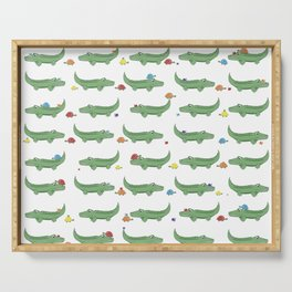 Alligator, Snail and Turtle Party - Children - 57 Montgomery Ave Serving Tray
