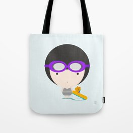 Swimming with unicorn Tote Bag