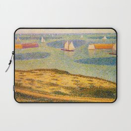 Port-en-Bessin Entrance to the Outer Harbor Georges Seurat - 1888 Impressionism Modern Populism Oil Laptop Sleeve