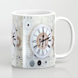 Technical Sketches Clock Coffee Mug