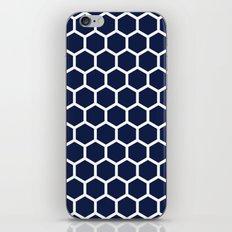 Indigo Navy Blue Honeycomb iPhone & iPod Skin