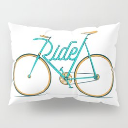 Ride Typo-Bike Pillow Sham