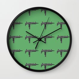 Uzi submachine gun Wall Clock