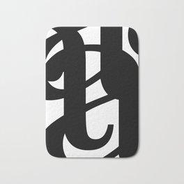 Hidden Letters. Baskerville A Bath Mat