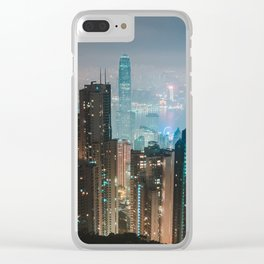 Hong Kong Nightscape Clear iPhone Case