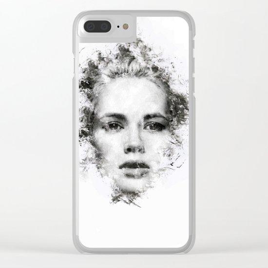 Woman Portrait Clear iPhone Case