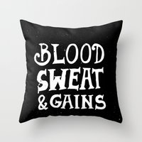 gym Throw Pillows featuring Gym by Textures
