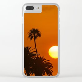 Sunset in the Palms Clear iPhone Case