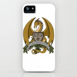 Clan Stonefire Crest - Gold Dragon iPhone Case