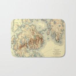 Map Of Acadia National Park 1931 Bath Mat