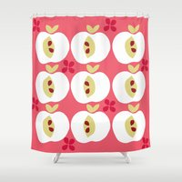 apple Shower Curtains featuring apple by ottomanbrim