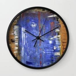 The blue door Wall Clock