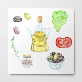 Italian fresh food Metal Print
