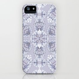 Full Kaleido Pale Blue Wildflowers iPhone Case
