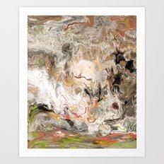 Earth Strata Marble Art Print